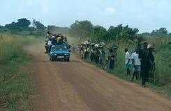 公路运输在乌干达。 免版税库存图片