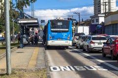 公车专道 免版税图库摄影