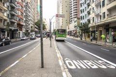 公车专道 库存图片