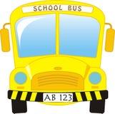 公车运送学校 图库摄影