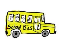 公车运送学校 库存图片
