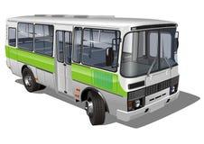 公车运送微型郊区都市 皇族释放例证