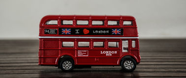公车运送概念分层装置双英国伦敦红色运输 免版税图库摄影