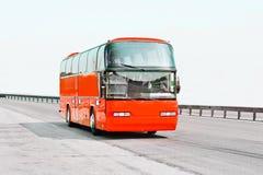 公车运送红色 库存照片
