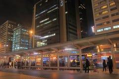 公车运送通勤者台北主要火车站都市风景台湾 免版税库存照片