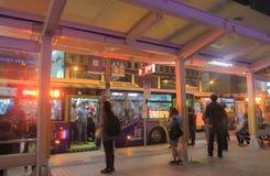 公车运送通勤者台北主要火车站都市风景台湾 免版税库存图片