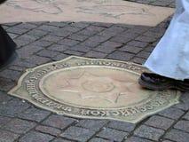 公里莫斯科符号零 免版税图库摄影