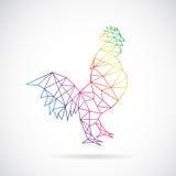 公鸡传染媒介设计  库存图片