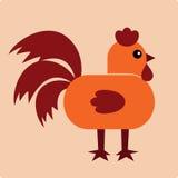 公鸡例证向量 免版税库存照片