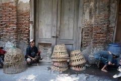公鸡战斗机训练活动在老城三宝垄 库存图片