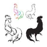 公鸡的向量图象 免版税库存图片