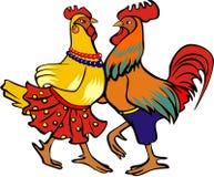公鸡跳舞 免版税库存照片