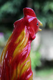 公鸡雕象 免版税图库摄影