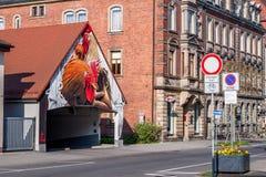 公鸡-德国街道艺术-拜罗伊特 免版税库存图片