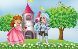 公主和骑士 免版税库存图片