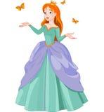 公主和蝴蝶 库存例证