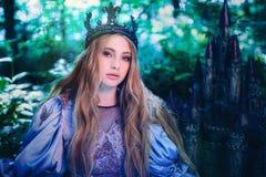 公主在不可思议的森林里 免版税图库摄影