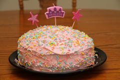 公主生日蛋糕 免版税库存照片