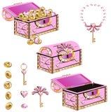 公主的不可思议的宝物箱 库存图片