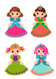 公主被隔绝的动画片集合 库存图片