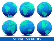 六个全球世界-设置一 皇族释放例证