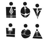六个商人 免版税库存照片