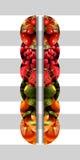 六个垂直被反映的半圆充分水果的纹理 图库摄影