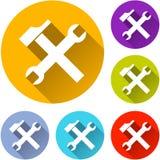 六个工具象 免版税库存照片
