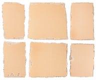六个纸板片断 库存图片
