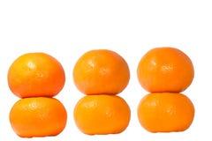 六个蜜桔 库存照片