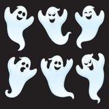 六个被分类的鬼魂字符 免版税图库摄影