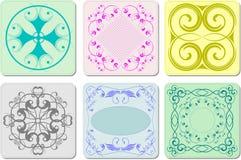 六个装饰精整陶瓷砖 库存照片