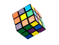 六个颜色立方体难题 库存图片