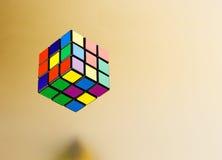 六个颜色立方体难题 图库摄影