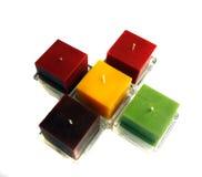 六个颜色蜡烛 免版税库存照片