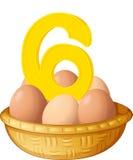 六个鸡蛋 免版税库存照片