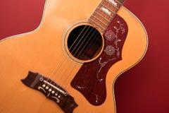 六串吉他背景 免版税库存照片