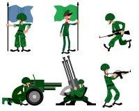 六位战士被设置 免版税库存图片