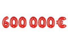 六十万欧元,红颜色 图库摄影