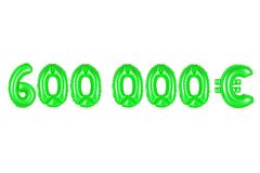 六十万欧元,绿色 免版税图库摄影