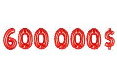 六十万美元,红颜色 免版税库存照片