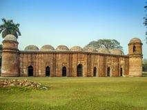 六十个圆顶清真寺Bagerhat孟加拉国 免版税库存图片