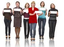 六名小组妇女 免版税库存图片