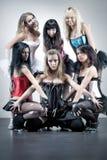 六名小组妇女 免版税图库摄影