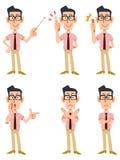 六姿态和人表情  图库摄影