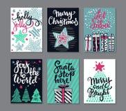 六张圣诞节贺卡的汇集 库存图片