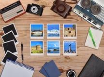 六张旅行foto卡片 图库摄影