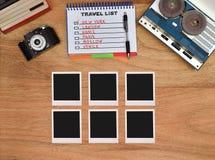 六张空白的foto卡片 免版税库存图片