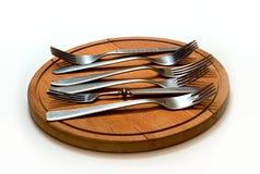 六把叉子 免版税库存照片