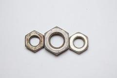 六方形螺母 免版税图库摄影